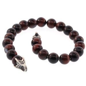 David Yurman Men's Spiritual Bead Bracelet Red Tig
